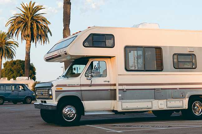 Over 70s Parked RV