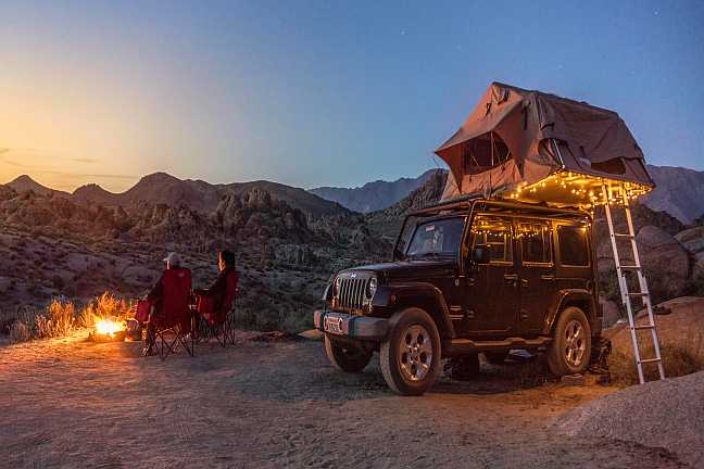 Rooftop Tent on a Jeep