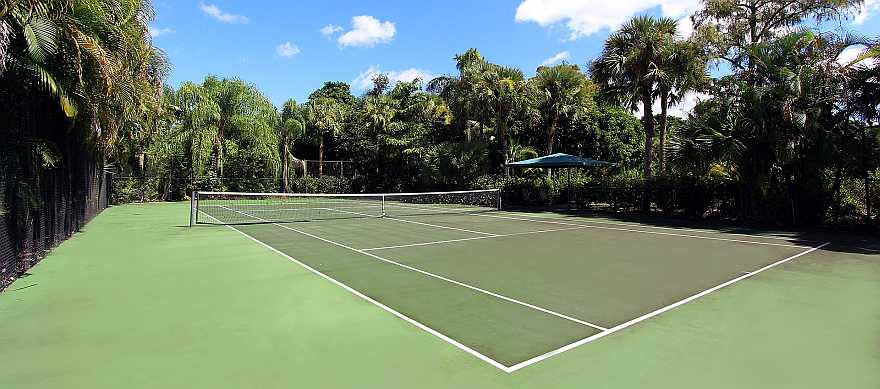 Tennis Court as comparison to 1 acre of land
